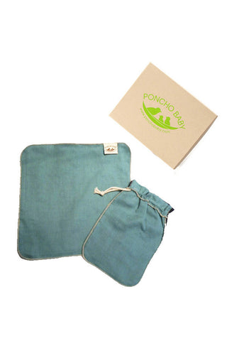 Dad Washcloth - 100% Cotton Muslin Emerald