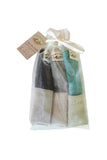 Dad Washcloth - 100% Cotton Muslin Multi Color (Organza Bag)