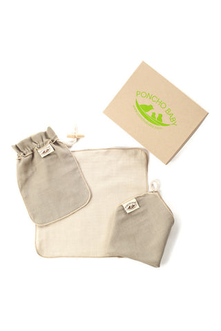 Dad Washcloth - 100% Cotton Muslin Beige
