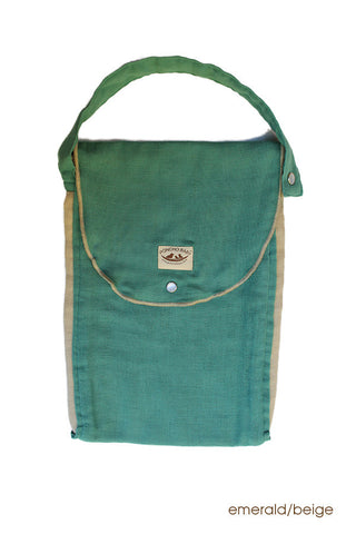 Diaper Bag - Organic Pack-N-Run™ Emerald/Beige