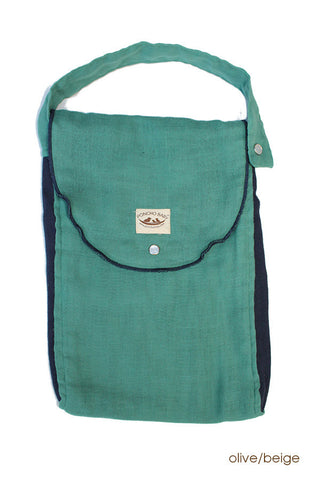 Diaper Bag - Organic Pack-N-Run™ Emerald/Navy
