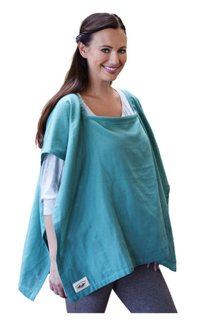 Nursing Cover  - 100% Cotton Muslin Emerald Square