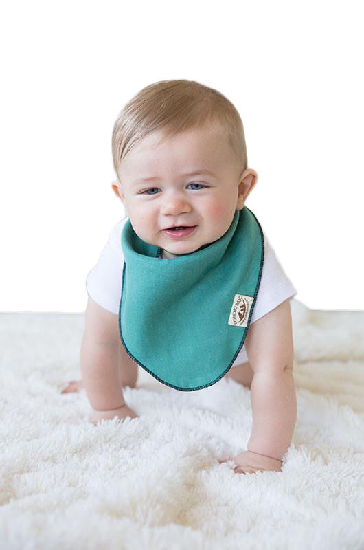 Bandana Bib - Reversible Emerald/Black