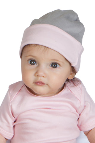 Organic Reversible Hats - Pink/Gray