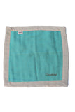 Personalized Security Blanket - Organic Lovey Blanky™ Emerald/Beige