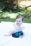 Personalized Security Blanket - Organic Lovey Blanky™ Emerald/Navy