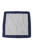 Personalized Security Blanket - Organic Lovey Blanky™ Gray/Navy