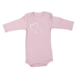 Organic Onesie - Long Sleeve Pink (milk lover)