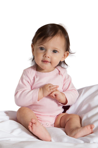 Organic Onesie - Long Sleeve Pink (solid)