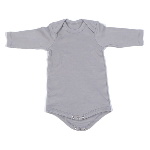 Organic Onesie - Long Sleeve Gray (solid)
