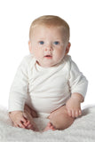 Organic Onesie - Long Sleeve Off White (solid)