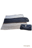 roly blanket navy gray
