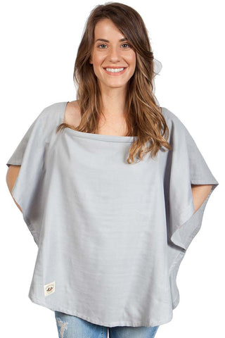 Organic Nursing Cover Gray Oval