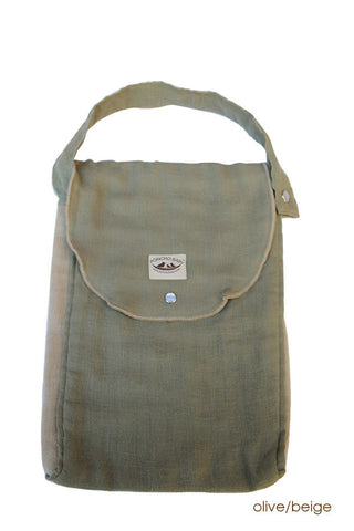 Diaper Bag - Organic Pack-N-Run™ Olive/Beige