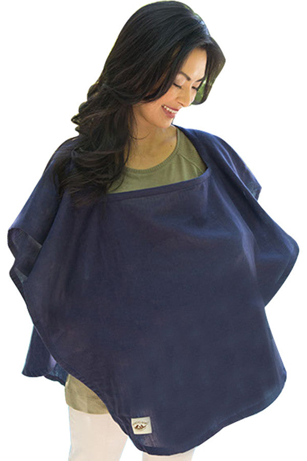Organic Nursing Cover Navy Oval