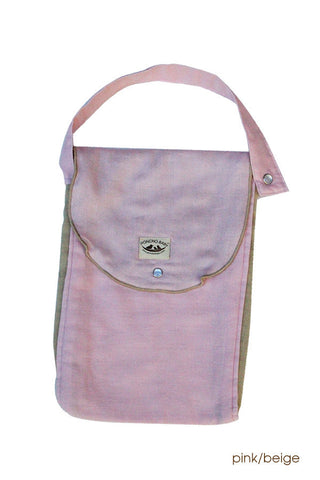 Diaper Bag - Organic Pack-N-Run™ Pink/Beige