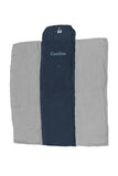 Personalized Baby Blanket - Organic Roly Blanket™ Navy Blue/Gray