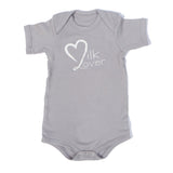 Organic Onesie - Short Sleeve Gray (milk lover)