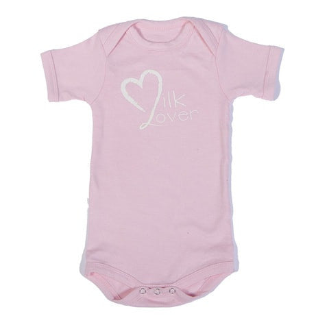 Organic Onesie - Short Sleeve Pink (milk lover)