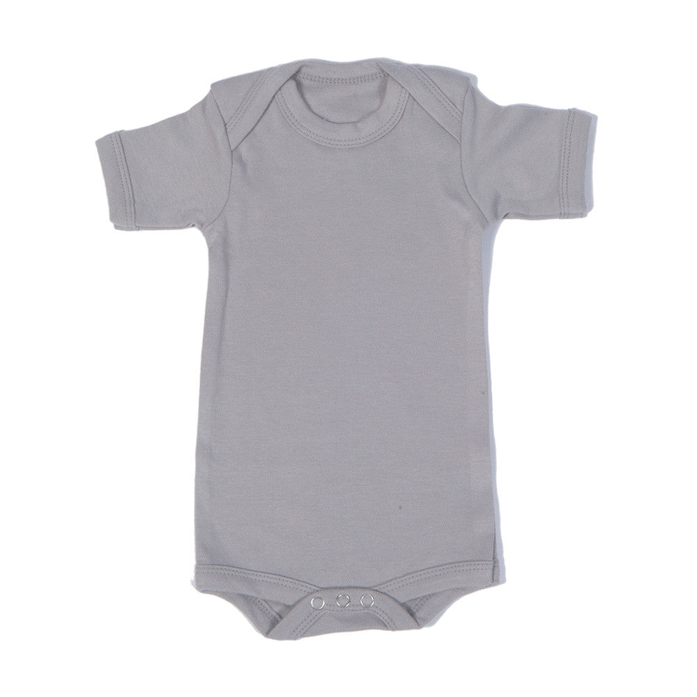 Organic Onesie - Short Sleeve Gray (solid)