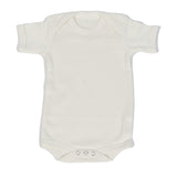 Organic Onesie - Short Sleeve Off White (solid)