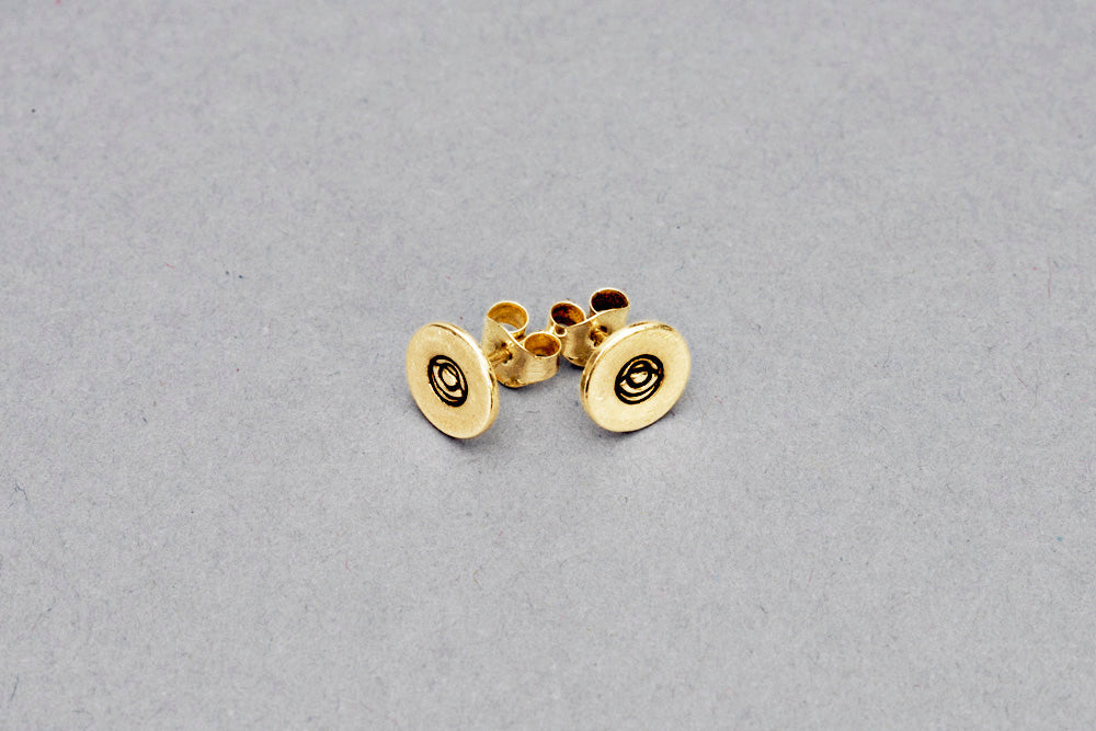 Naked Eyes Brand Gold Logo Earrings