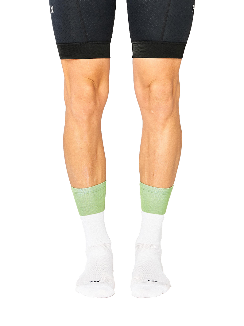 FINGERSCROSSED jade white cycling socks