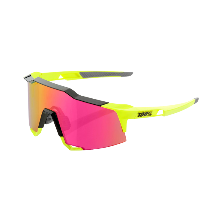 100% SPEEDCRAFT Polished Black/Fluo Yellow Mirror Lens