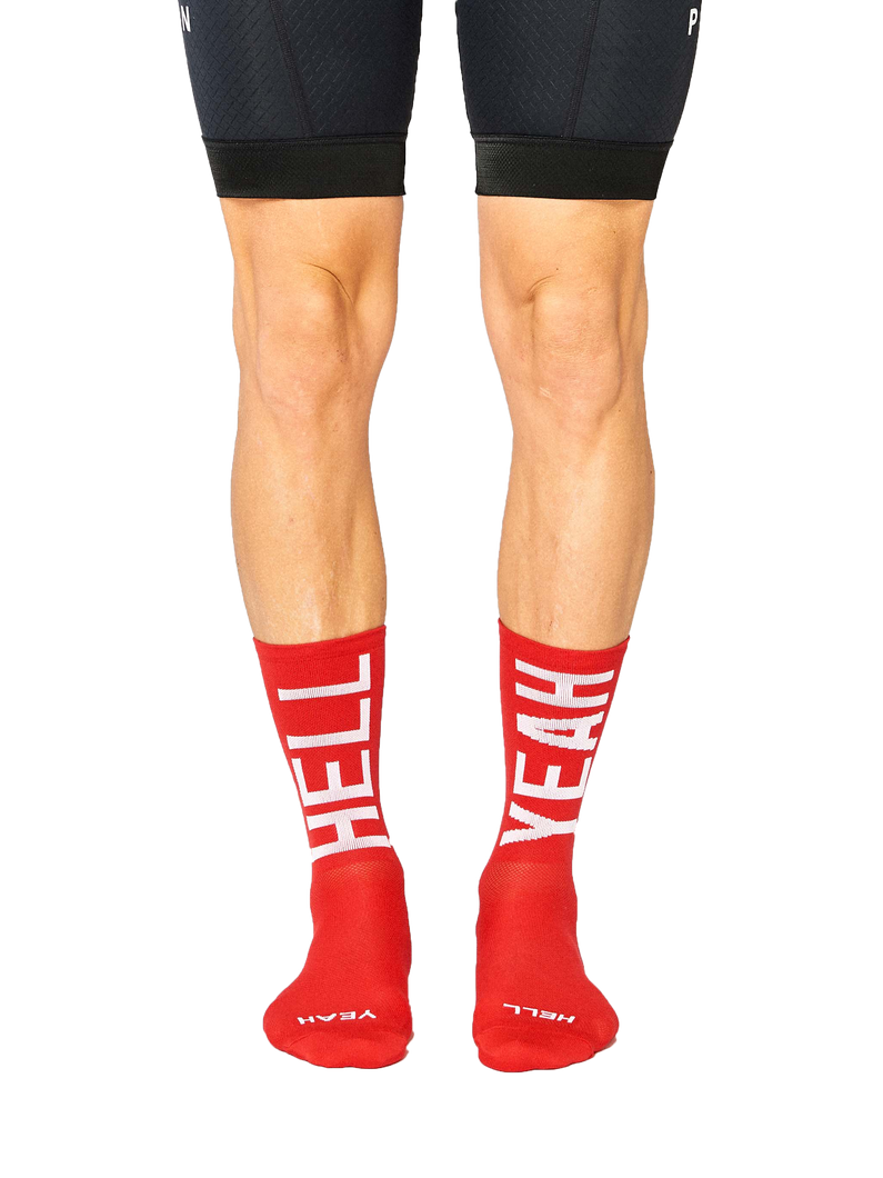 FINGERSCROSSED flamme rouge cycling socks