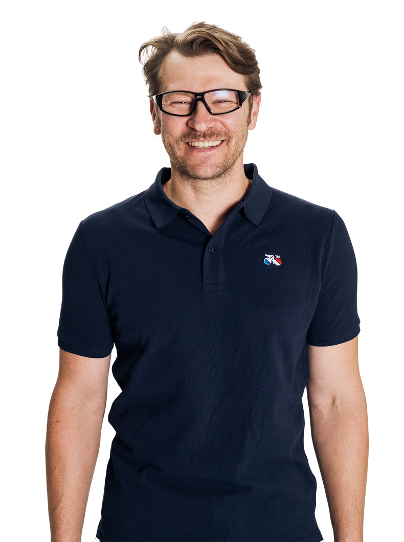 Standert Polo Shirt | Bike Logo Embroidered | navy