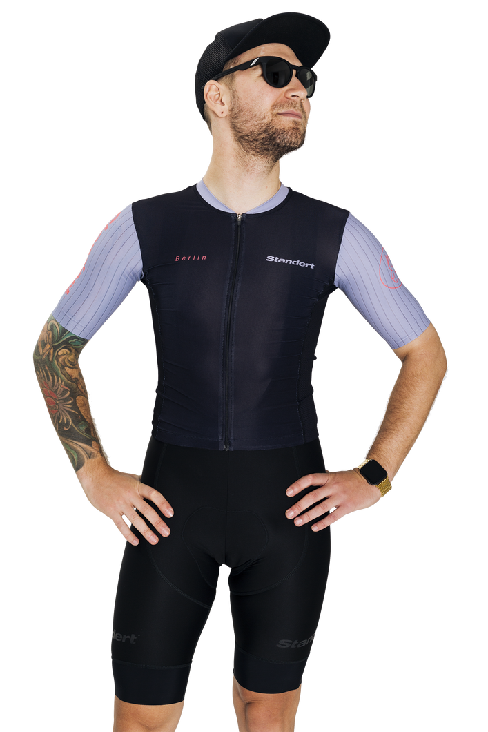 Standert Cycling Kit | Mens Light Weight Jersey | Black