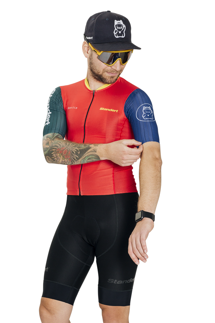 Standert Cycling Kit | Mens Light Weight Jersey | Red