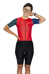 Standert Cycling Kit | Womens Light Weight Jersey | Red