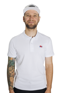Standert Polo Shirt | Bike Logo Embroidered | white
