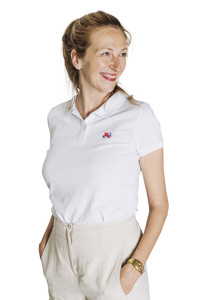 Standert Polo Shirt | Women's Bike Logo Embroidered | white