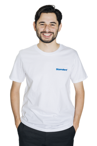 Standert T-Shirt | Performance Logo | blue embroidery