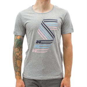 Standert T-Shirt | Big S | navy/blue/pink