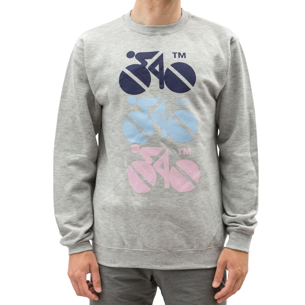 Standert Sweatshirt | 3 Bikes | navy/light blue/pink