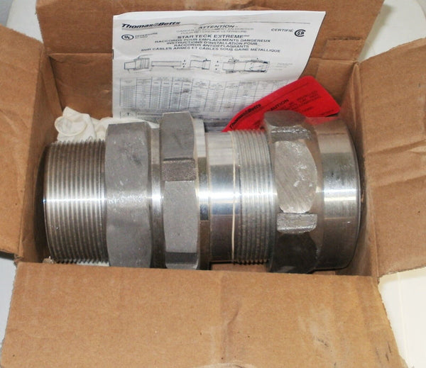 "New T & B STEX300 3"" Star Teck Ext Alum Cable Fitting THOMAS & BETTS"