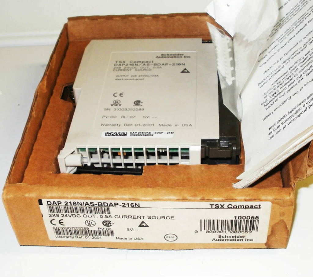 Schneider TSX Compact ASBDAP216N Modicon A120 IO DC OUT 16 pt AS-BDAP-216N