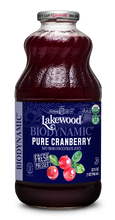 Load image into Gallery viewer, Biodynamic® Organic Pure Cranberry (32 oz, 6 pack)