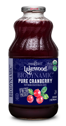 Biodynamic® Organic Pure Cranberry (32 oz, 6 pack)