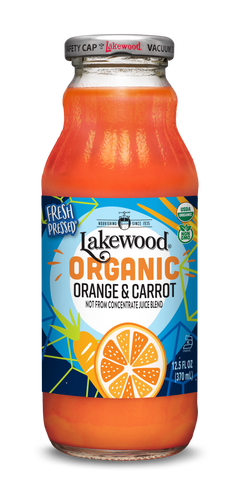 Organic Orange & Carrot Blend (12.5 oz, 12 pack)