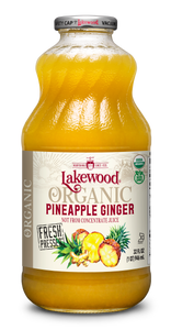 Organic Pineapple Ginger (32 oz, 6 pack)