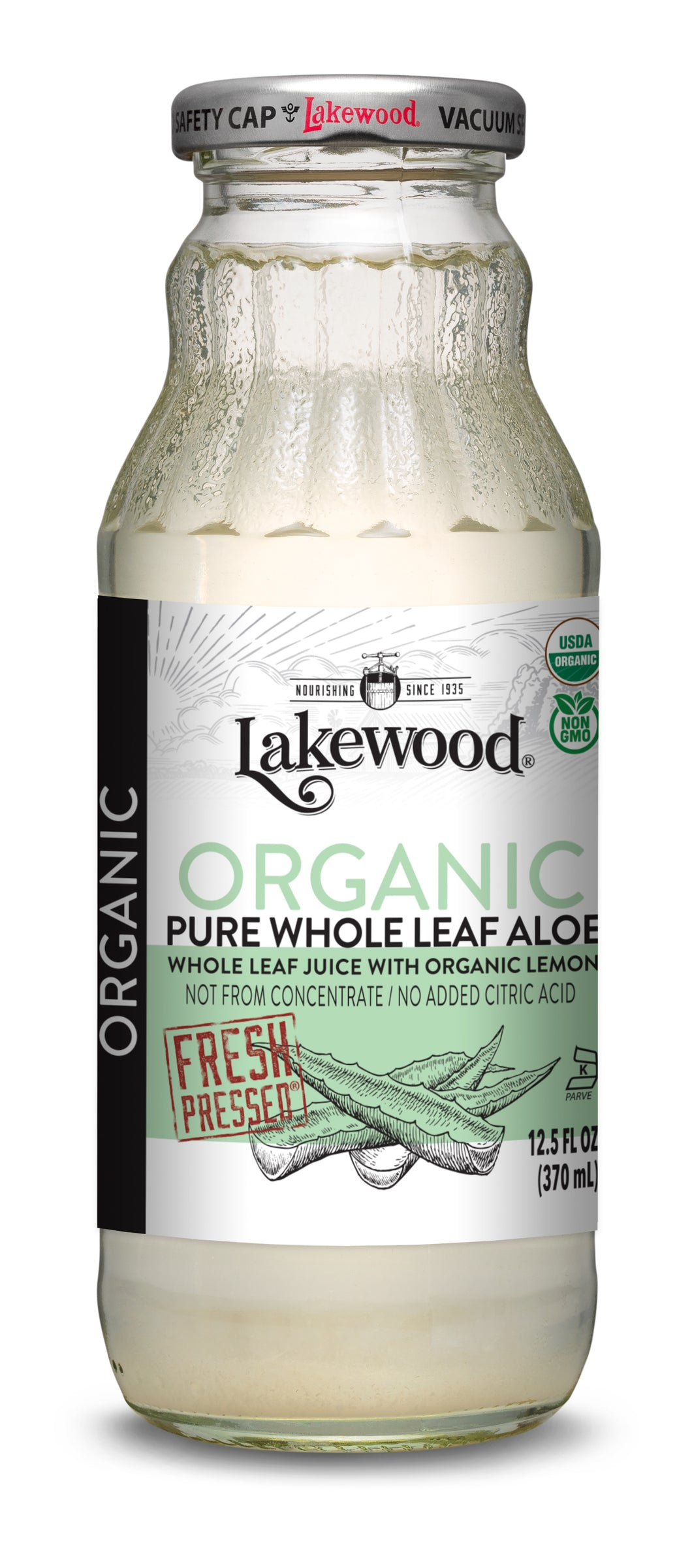 Organic PURE Whole Leaf Aloe (12.5 Ounce, 12 pack)