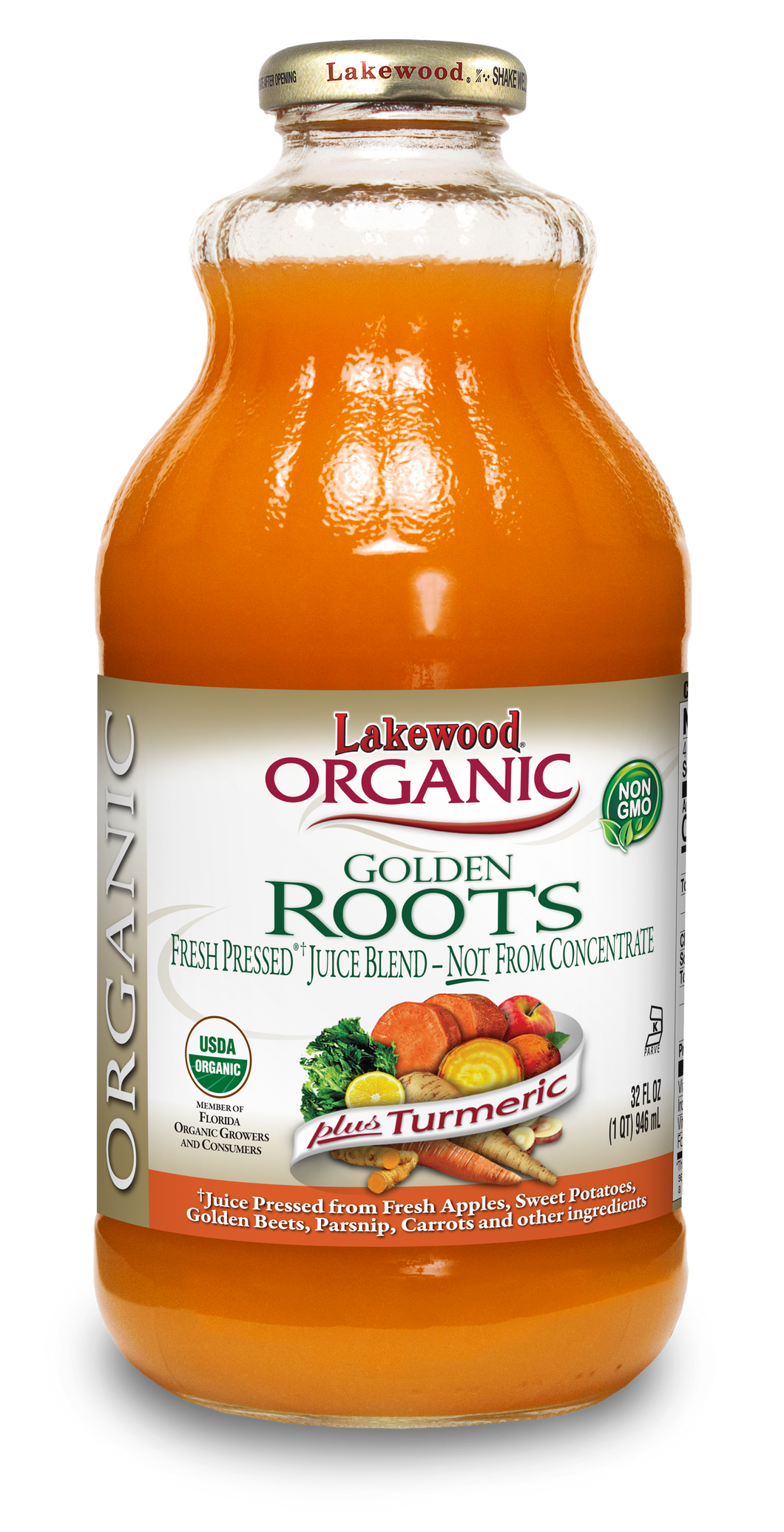 Organic Golden Roots Blend, Fresh Pressed® (32 oz, 6 pack)