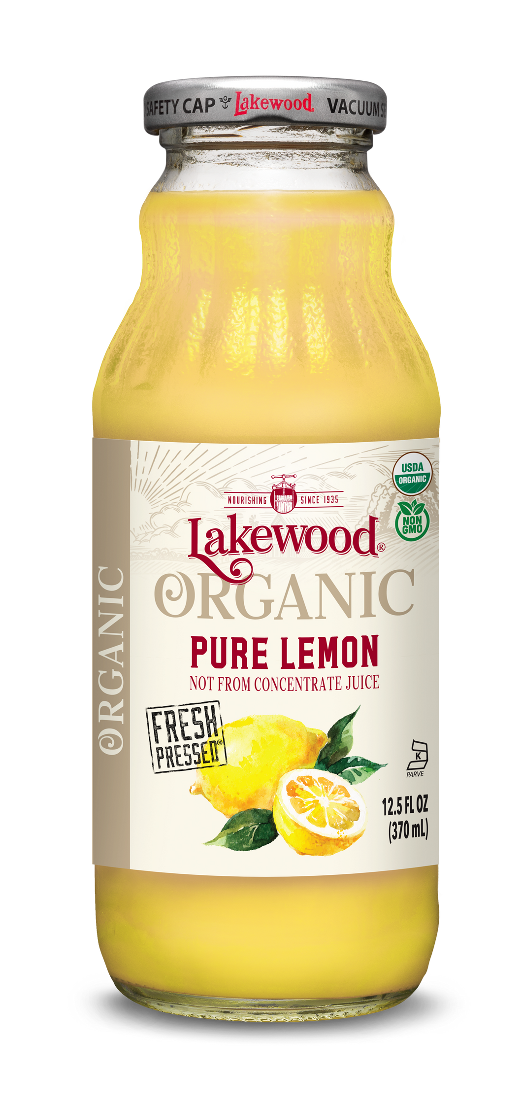 Organic PURE Lemon (12.5 oz, 12 pack)