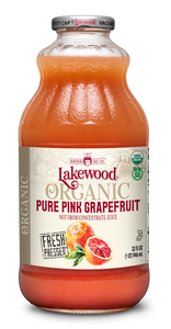 Organic PURE Pink Grapefruit (32 oz, 6 pack)