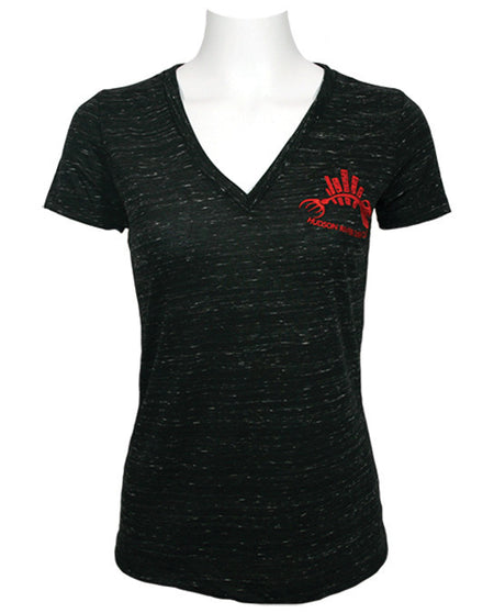 Embroidered Logo V Neck