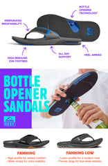 Reef Fanning Sandals with bottle opener feature